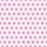 Pink and White Flower Repeat Pattern Background Royalty Free Stock Image