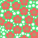 Pink and white flowers pattern seamless Stock Photo