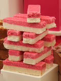 Pink and White Fudge. Royalty Free Stock Photo