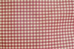 Pink and white grids fabric bag background Royalty Free Stock Image