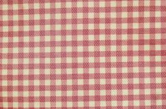 Pink and white grids fabric bag background and texture Stock Photography