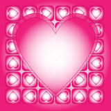 pink and white heart background Stock Photos