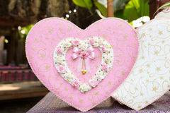 Pink and white heart box for wedding day Stock Photography