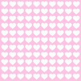 Pink and White Heart Pattern Stock Photos