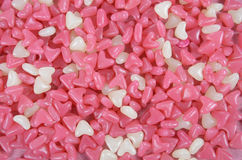Pink and white heart shape jelly candy Stock Photos