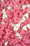 Pink and white heart shape jelly candy Royalty Free Stock Photography