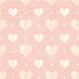 Pink and White hearts and Script Background Stock Images