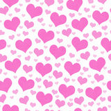 Pink and White Hearts Tile Pattern Repeat Background Royalty Free Stock Photos