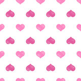 Pink white hearts Valentine's day seamless pattern Royalty Free Stock Photos