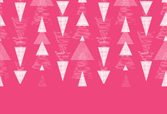 Pink and white ikat triangles stripes horizontal Stock Photography