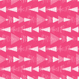 Pink and white ikat triangles stripes seamless Royalty Free Stock Photo