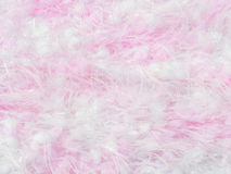 Pink and white knitting wool Stock Images