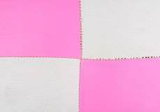 Pink and White leather background Stock Images