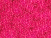 Polygon pink background. Pink and white lines polygon abstract background stock illustration