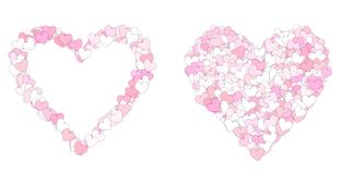 Pink and white  love heart symbols Royalty Free Stock Image