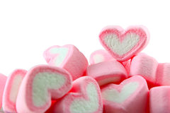 Pink and White Marshmallow background Stock Image