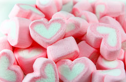 Pink and White Marshmallow background Stock Photo