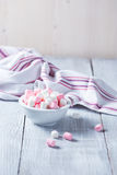 Pink and white marshmallows Stock Photos