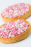 Pink and White Muisjes Stock Images