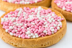 Pink and White Muisjes Stock Photo