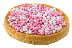 Pink and White Muisjes stock photos