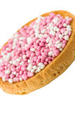 Pink and White Muisjes Royalty Free Stock Images