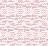 Pink on white multi hexagonal line pattern seamless repeat background stock photos