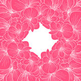 Pink and white orchid frame Royalty Free Stock Photo