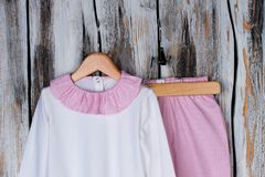 Pajama suit for toddler girl Royalty Free Stock Images