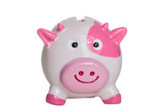 Pink and white piggy bank Stock Photo