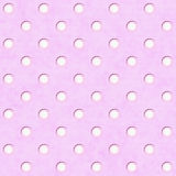Pink White Polka Dot Fabric Background Royalty Free Stock Photos