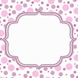 Pink and White Polka Dot Frame Background Royalty Free Stock Images