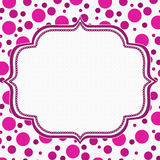 Pink and White Polka Dot Frame Background vector illustration