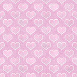 Pink and White Polka Dot Hearts Pattern Repeat Background Royalty Free Stock Images