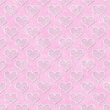 Pink and White Polka Dot Hearts Pattern Repeat Background Royalty Free Stock Photography