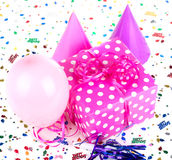 Pink with White Polka Dot Present Royalty Free Stock Photos