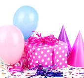 Pink with White Polka Dot Present Royalty Free Stock Photo