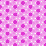 Pink and White Polka Dot Tile Pattern Repeat Background Stock Image