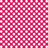 Pink and white polka dots stock image