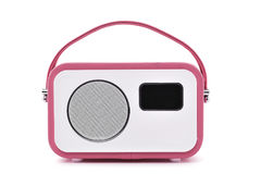 Pink and white radio receptor Stock Photography