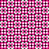Pink & White Retro Pattern. Pink and white circles retro pattern Stock Photography
