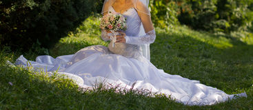 Pink and white rose bridal bouquet Royalty Free Stock Photography