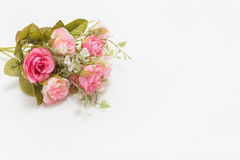 Pink and white roses. Background, shallow depth of field. Retro vintage Stock Image