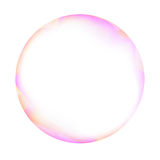 Pink and white soap bubble Royalty Free Stock Photography