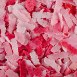 Pink and white soapflakes background Stock Image