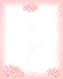 Pink and white stationery. Pink and whiter stationery with flowers and floral elements Stock Photo