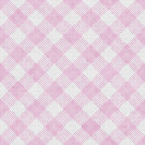 Pink and White Striped Gingham Tile Pattern Repeat Background Stock Photos
