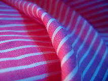 Pink and white stripes fabric royalty free stock photography