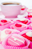 Pink and white sweets Royalty Free Stock Photo