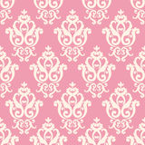Pink and white texture in vintage royal style. Stock Image